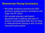 biventricular pacing conclusions