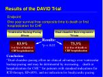 results of the david trial18