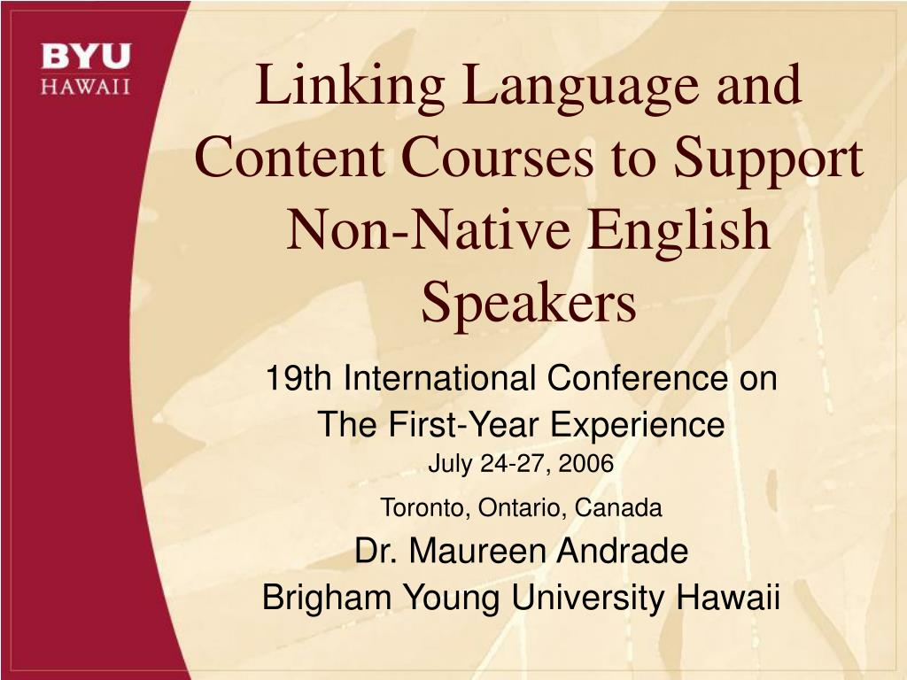 linking language and content courses to support non native english speakers l.