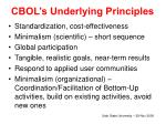 cbol s underlying principles