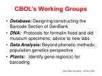 cbol s working groups