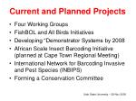 current and planned projects