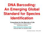 dna barcoding an emerging global standard for species identification