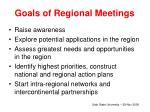 goals of regional meetings