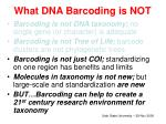 what dna barcoding is not10
