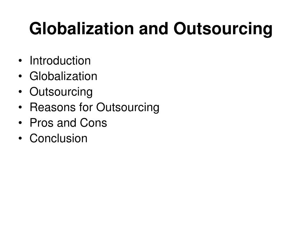 globalization and outsourcing l.