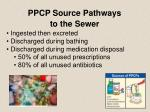 ppcp source pathways to the sewer