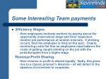 some interesting team payments9