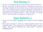 data encoding is