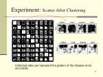 experiment scatter after clustering