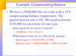 example compensating balance