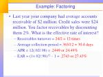 example factoring