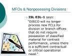 mfos nonposessing divisions