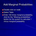 add marginal probabilities