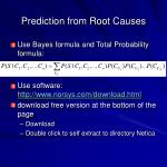 prediction from root causes