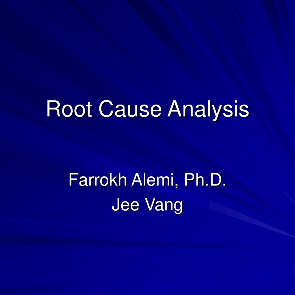 root cause analysis l.
