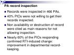 pa record inspection