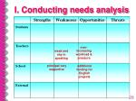 i conducting needs analysis28