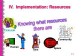 iv implementation resources