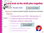 let s look at the draft plan together20