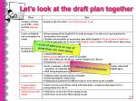 let s look at the draft plan together21