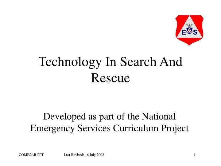 technology in search and rescue n.