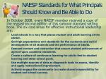 naesp standards for what principals should know and be able to do