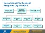 socio economic business programs organization