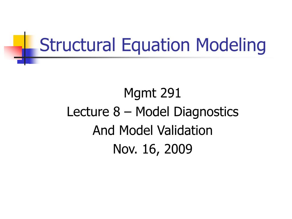 structural equation modeling l.