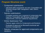 program structure cont