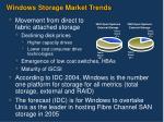 windows storage market trends