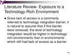 literature review exposure to a technology rich environment