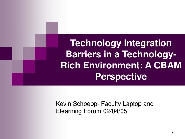 technology integration barriers in a technology rich environment a cbam perspective n.