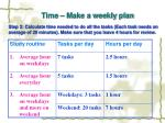 time make a weekly plan25