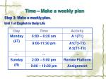 time make a weekly plan26
