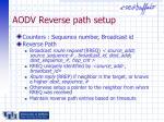 aodv reverse path setup