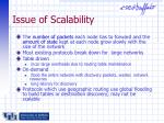 issue of scalability