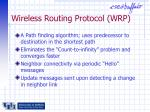 wireless routing protocol wrp
