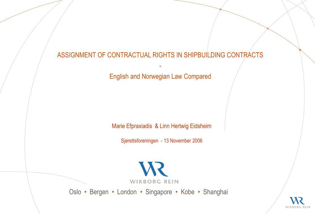 Shipbuilding Contracts