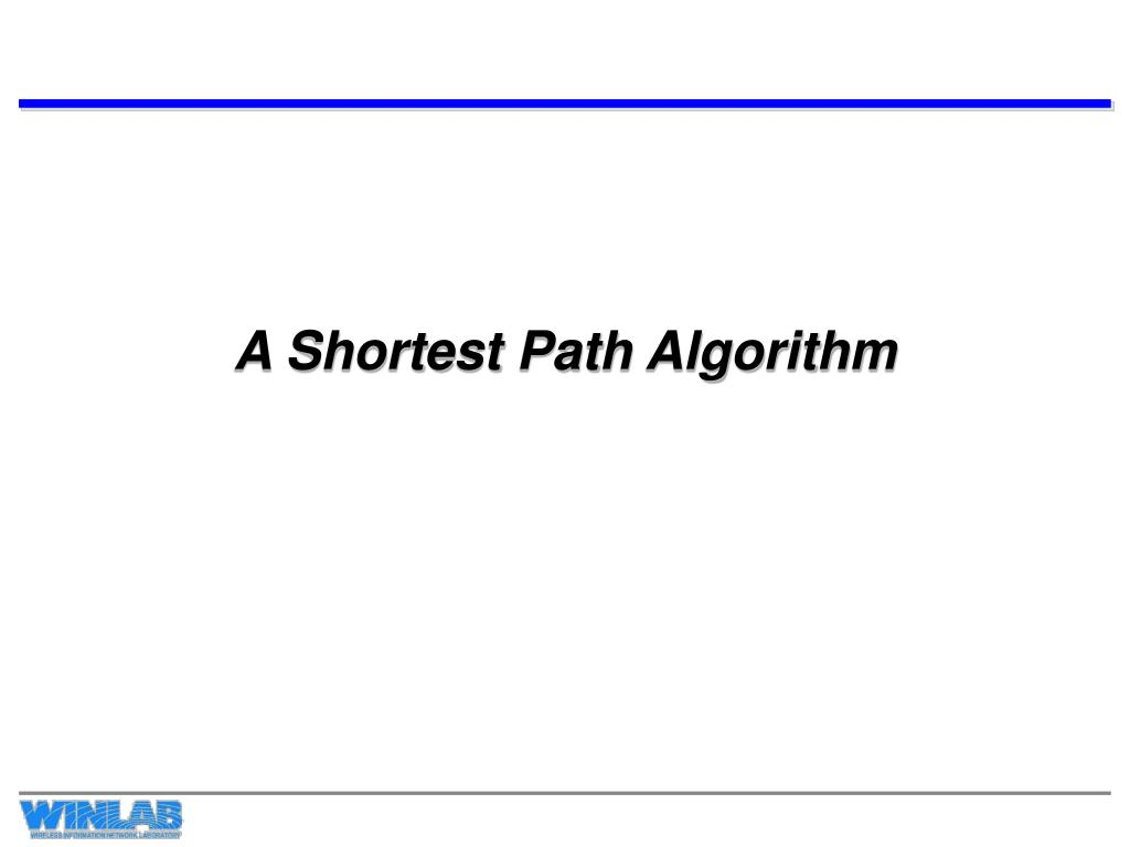 a shortest path algorithm l.