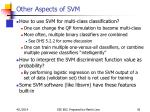 other aspects of svm