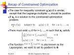 recap of constrained optimization9