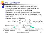 the dual problem12