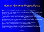 human genome project facts
