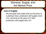 demand supply and the market price13