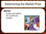 determining the market price