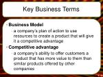 key business terms