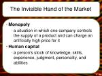 the invisible hand of the market18
