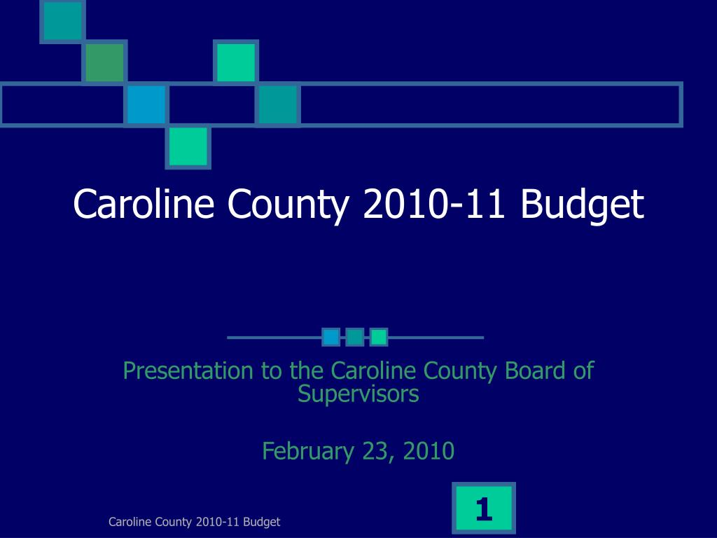 caroline county 2010 11 budget l.