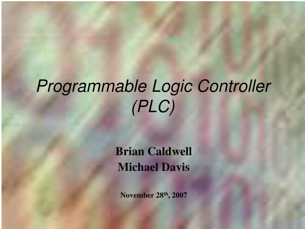 programmable logic controller plc l.